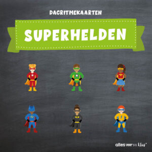 Dagritmekaarten Superhelden