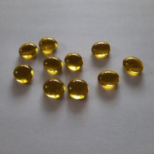 Gele glazen counters