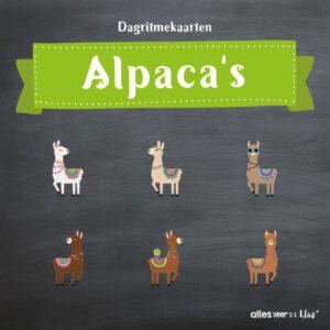 Dagritmekaarten alpaca's