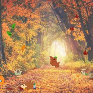 Achtergronden herfst bos